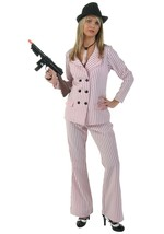 Womens Gangster costume female pinstripe suit Womens Gangster outfit - $99.00