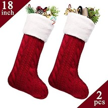 LimBridge Christmas Stockings, 2 Pack 18 inches Large Cable Knit Knitted... - $23.04