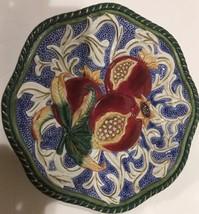 Fitz & Floyd Classics Florentine Fruit Pomegranate Blue Vines Wall Hangi... - $24.74