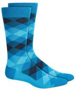 Mens Dress Socks Diamond Ombre Blue Blue Alfani Alfatech 1 Pair $10 - NWT - $3.95