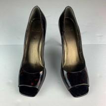 Stuart Weitzman Heels open toe Leather Brown patent multi tone sz 9 Spain - $49.99