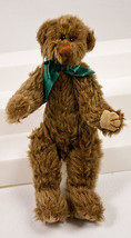 "Ty Attic Treasure Wee Willie Brown Teddy Bear 8"" Plush Teal Ribbon 1992 Tush Tag - $17.95"