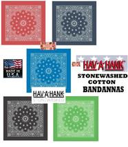 USA MADE HAV-A-HANK STONEWASHED Faded PAISLEY BANDANNA BANDANA Head Scar... - $8.36