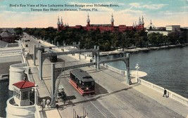 Tampa FL Trolley on Lafayette Street Bridge Curt Teich Early 1900s Postcard - $7.65