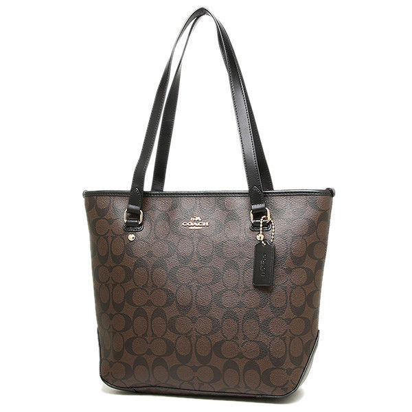 Primary image for COACH F58294 Signature Top Zip Coated Canvas Tote