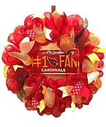 Nfl Arizona Cardinals Deco Mesh Wreath - Cardinals Wreath - Cardinals - ... - $68.00