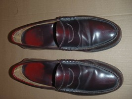 Johnston & Murphy Aristocraft Penny Loafers Size 10.5 E  Burgundy Mens - $56.09