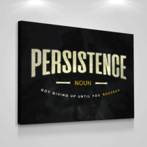 "Motivational Canvas Print Wall Office Decor Persistance Modern Art 24"" x 36"" Inc - $103.46"