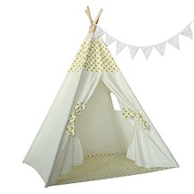Ukadou Kids Teepee Tent for Girls Boys Children Bedroom Furniture Play T... - $67.57