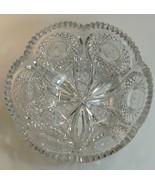 ABP cut glass bowl American brilliant Tusks BD - $359.63
