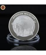 WR 2016 Zambia African Wildlife Buffalo 5000 Kwacha Animal Silver Coin S... - $3.88
