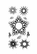 1 Set Of Special Sun Pattern Tattoo Stickers Waterproof