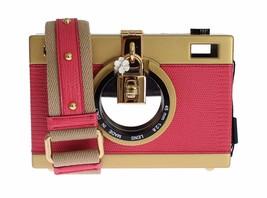 Dolce & Gabbana Camera Case Pink Leather Gold Shoulder Bag Clutch - $52.940,33 MXN