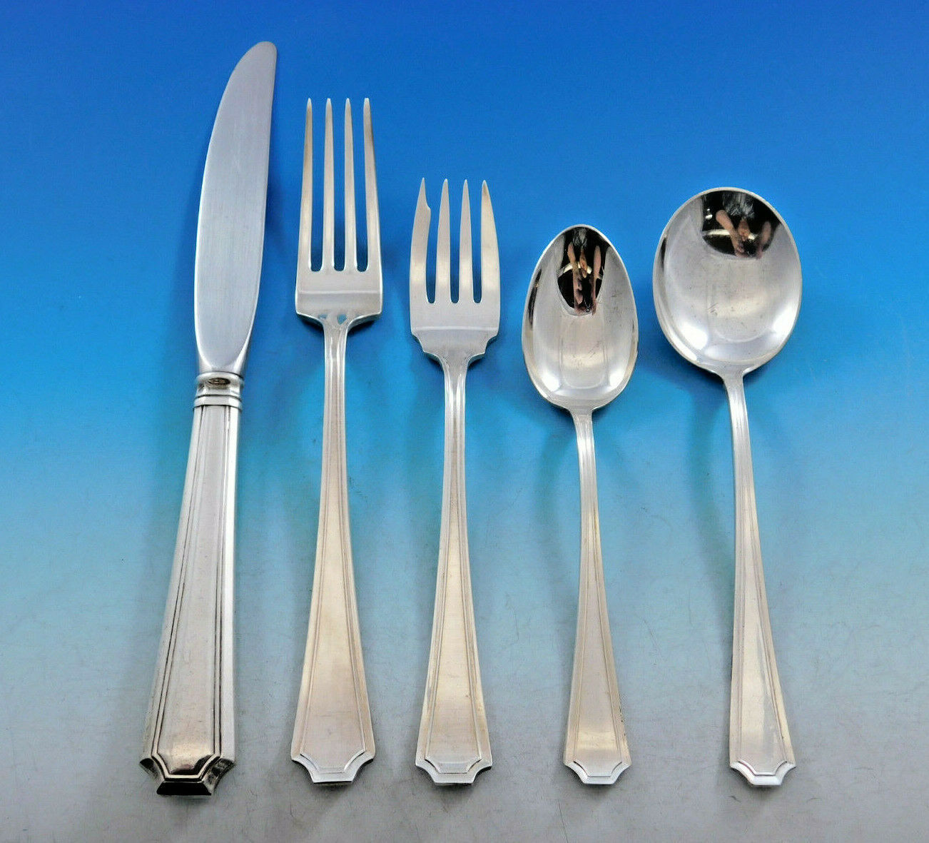 Primary image for Fairfax by Gorham Sterling Silver Flatware Set for 8 Service 42 Pcs Place Size