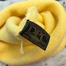 Dorfman Pacific OSFA Hat Yellow Stretch Knit Soft Velour Roll-Up Beanie Warm Cap image 6