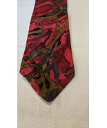 Serica Kosins Mens Tie 100% Silk  Italy Abstract Black Red Blue-grey  - $8.32