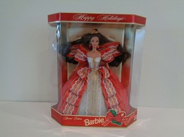 Happy Holidays 1997 Special Edition New Barbie Doll Brunette 10th Anniversary - $78.21