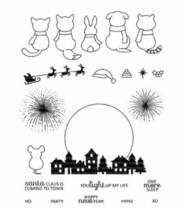 Cute Animals, Houses, Moon, Santa, Sleigh, Reindeer Stamp Set - Card Making!