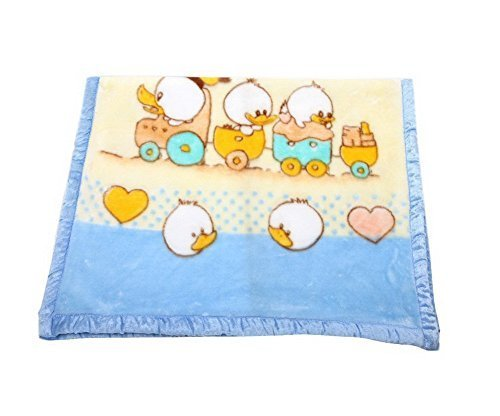 Thick Blue Duck Raschel Baby Boys Blanket
