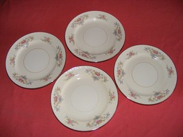 "4 Homer Laughlin Wedgwood 6.25"" Bread Dessert Plates Eggshell Georgian - $15.95"