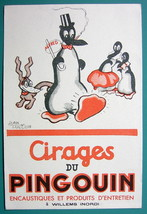 PINGOUIN Polishes - c 1960 Ink Blotter Advertisement - $4.49
