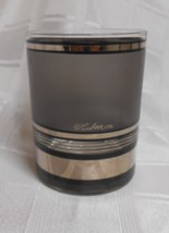 Culver Double Old Fashion Gray Frosted & Silver Signed Hollywood Regency - $7.50