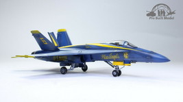 US Navy F/A-18A Hornet Blue Angels 1:72 Pro Built Model - $173.25