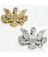 MILITARY USA AMERICAN EAGLE INSIGNIA FINE PEWTER PENDANT CHARM - $0.99