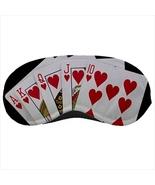 Sleeping mask travel flight plane poker cards hearts - $14.00