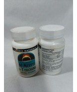 N-Acetyl L-Tyrosine 300 mg 60 Tablets Source Naturals Lot of 2 Container... - $21.49