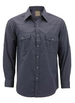 Men's Casual Western Pearl Snap Button Down Long Sleeve Cowboy Dress Shirt image 3