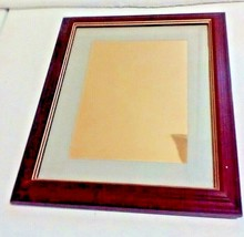Home Interior Oak Wood Framed Matted Mirror ( New ) 11x10 - $24.75