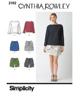 Simplicity Sewing Pattern 2192: Misses' Sportswear Cynthia Rowley Collec... - $8.79