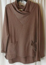 Logo lounge by lori goldstein Lrg knit top long sleeve shawl v neck Maro... - $27.71