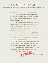 Rare & Interesting Ansel Adams Letter Brett Edward Weston Photo Autograp... - $3,406.25