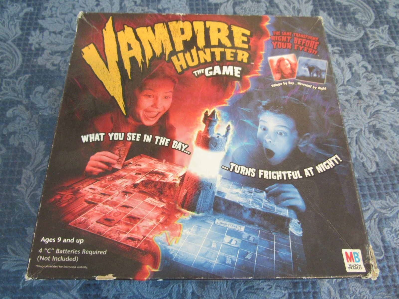 Primary image for Vampire Hunter Board Game by Milton Bradley MB with Electronic Tower!