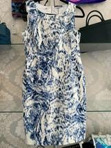 "ELIE TAHARI Blue/White Cotton ""Grayson"" Dress Style#R208M601 Size 8 $298... - $117.71"