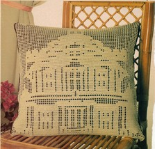 Advanced Sparrow Bird Panel Table Top Victorian Mansion Pillow Crochet Pattern image 2