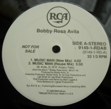 Bobby Ross Avila - Music Man - RCA 9149-1-RDAB - PROMO - $3.00