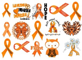 Leukemia Awarenes Temporary Tattoos  - $11.00