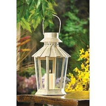 Beautiful Weathered Rustic Style Garden Lantern NEW Five Sided Fluted Ro... - $19.24