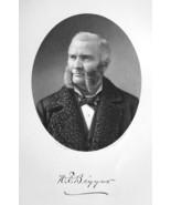 HAMILTON BIGGAR M.D. Ohio Surgeon & Professor of Anatomy - 1883 Portrait... - $19.80