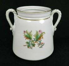 """Vtg Limoges Haviland Moss Rose Large Sugar Bowl 5-1/4"""" H Rope Trim Doubl... - $24.74"""