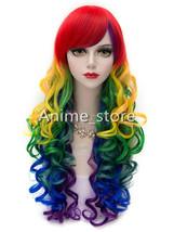 Multi-color Rainbow Lolita Wig Halloween cosplay0520 - $32.99