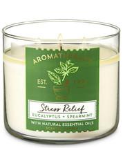 Bath & Body Works Aromatherapy Eucalyptus Spearmint 3-Wick 14.5 Ounces C... - $22.49