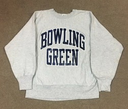 VTG Champion Reverse Weave Bowling Green State Crewneck Sweatshirt Gray Adult M - $39.59