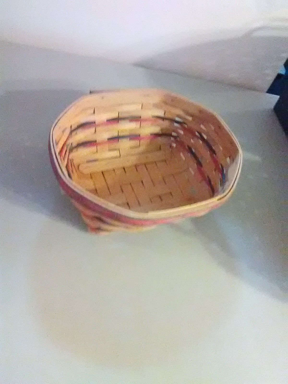 Longaberger Handwoven Eight Sided Basket - 1999