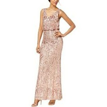 Betsy Adam Women's Sequined Blouson Gown 2P Blush # W12 - $89.09