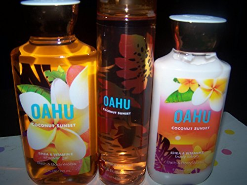 3 Piece Bath & Body Works Oahu Coconut Sunset Fragrance Gift Set- Fine Fragrance