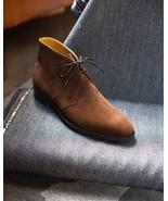 Classic Handmade Brown Beauty Formal Wear Decent Chukka Boot - $166.73+